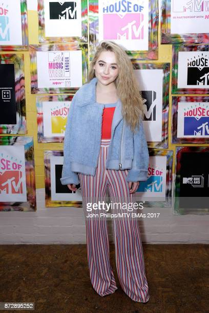 Sabrina Carpenter during the MTV EMAs 2017 Breaks Sessions on November 11 2017 in London England