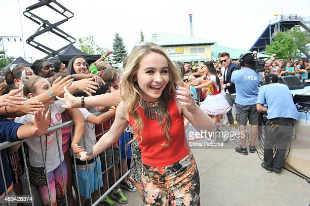 Sabrina Carpenter performs at YTV Summer Beach Bash at Canada's Wonderland on August 8 2015 in Vaughan Ontario