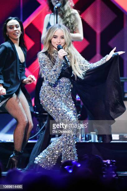 Sabrina Carpenter performs at Z100's Jingle Ball 2018 at Madison Square Garden on December 7 2018 in New York City