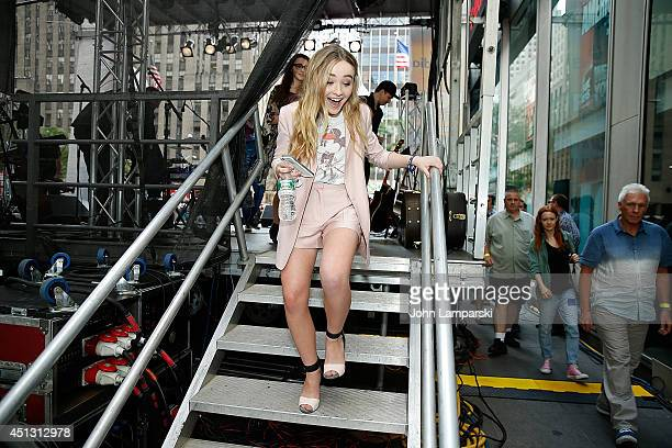 Sabrina Carpenter performs during 'FOX Friends' All American Concert Series outside of FOX Studios on June 27 2014 in New York City