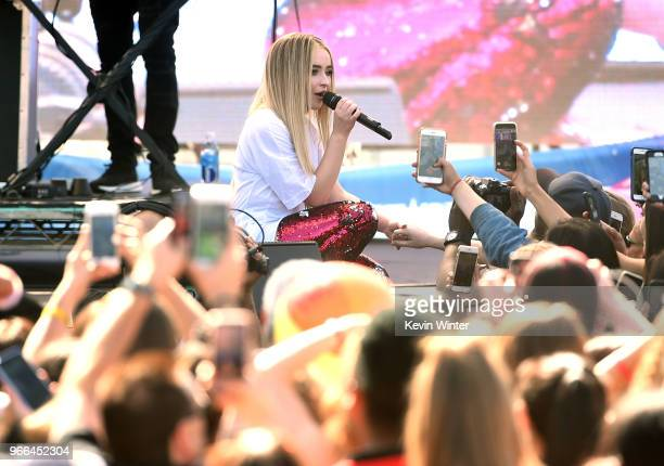 Sabrina Carpenter performs live during the KIIS FM Wango Tango Village at the 2018 iHeartRadio Wango Tango by ATT in Los Angeles California