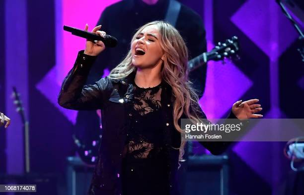Sabrina Carpenter performs onstage during 1013 KDWB's Jingle Ball 2018 at Xcel Energy Center on December 3 2018 in St Paul Minnesota