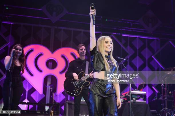 Sabrina Carpenter performs onstage during 1035 KISS FM's Chicago Jingle Ball 2018 on December 12 2018 in Rosemont Illinois
