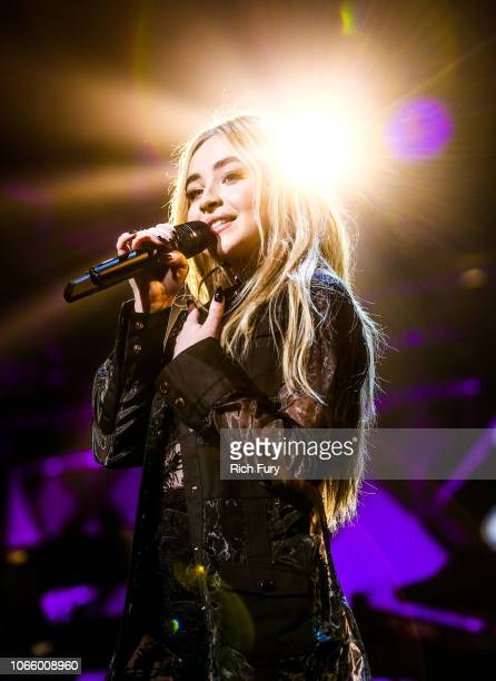 Sabrina Carpenter performs onstage during 1061 KISS FM's Jingle Ball 2018 at American Airlines Center on November 27 2018 in Dallas Texas