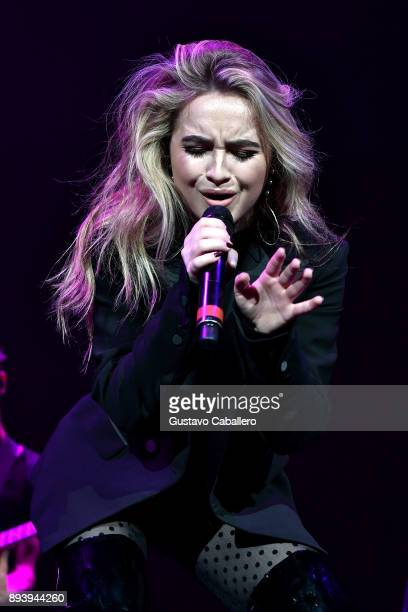 Sabrina Carpenter performs onstage during 933 FLZ's Jingle Ball 2017 at Amalie Arena on December 16 2017 in Tampa Florida