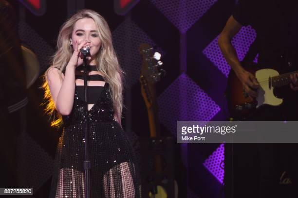 Sabrina Carpenter performs onstage during Q102's Jingle Ball 2017 Presented by Capital One at Wells Fargo Center on December 6 2017 in Philadelphia...