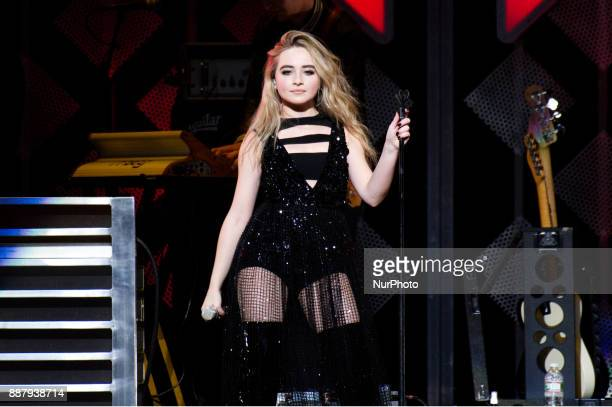 Sabrina Carpenter performs onstage during the Q102's iHeartRadio Jingle Ball 2017 at the Wells Fargo Center in Philadelphia PA on December 6 2017