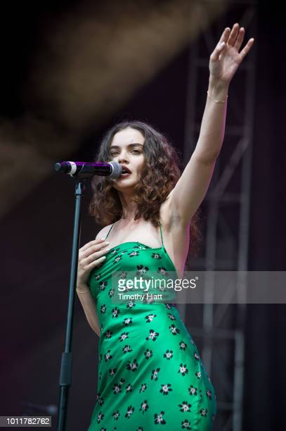 Sabrina Claudio performs on day 4 of Lollapalooza at Grant Park on August 5 2018 in Chicago Illinois