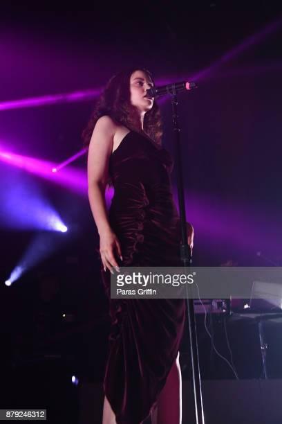 Sabrina Claudio performs onstage at The Tabernacle on November 25 2017 in Atlanta Georgia