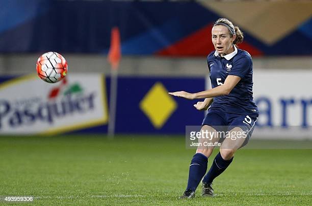 Sabrina Delannoy of France in action during the women's international friendly match between France and The Netherlands at Stade Jean Bouin on...