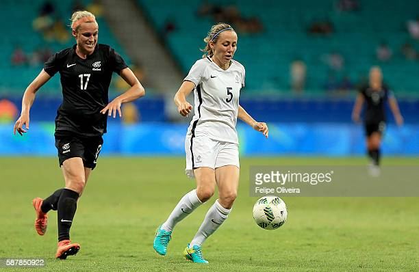 Sabrina Delannoy of France in action match between New Zealand and France at Arena Fonte Nova on August 9 2016 in Salvador Brazil