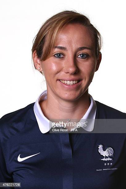 Sabrina Delannoy of France poses during a FIFA Women's World Cup portrait session on June 6 2015 in Moncton Canada