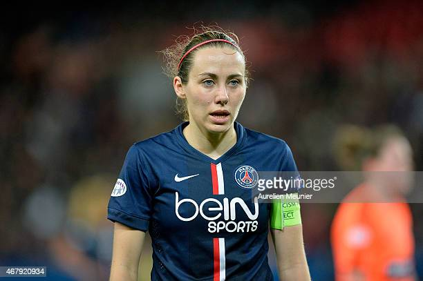 Sabrina Delannoy of Paris SaintGermain reacts during the UEFA Woman's Champions League Quarter Final match between Glasgow City and Paris...