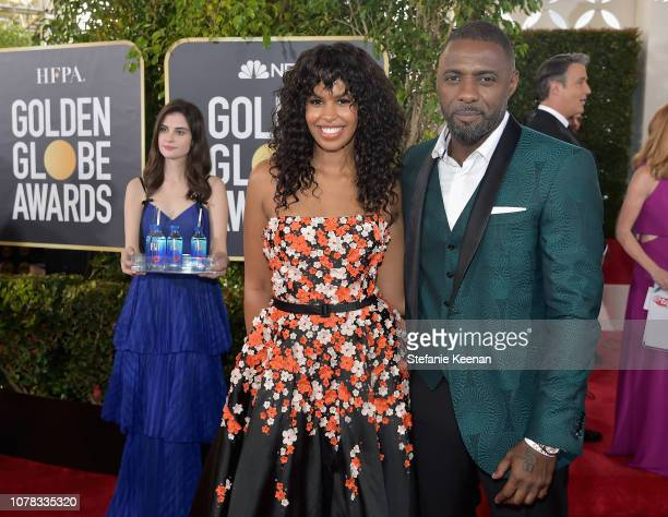 Sabrina Dhowr and Idris Elba attend FIJI Water at the 76th Annual Golden Globe Awards on January 6 2019 at the Beverly Hilton in Los Angeles...