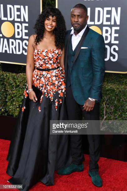 Sabrina Dhowr and Idris Elba attend the 76th Annual Golden Globe Awards at The Beverly Hilton Hotel on January 6 2019 in Beverly Hills California