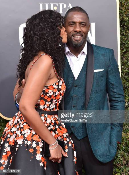Sabrina Dhowre and Idris Elba attend the 76th Annual Golden Globe Awards at The Beverly Hilton Hotel on January 6 2019 in Beverly Hills California