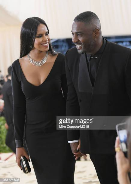 Sabrina Dhowre and Idris Elba attend the Heavenly Bodies Fashion The Catholic Imagination Costume Institute Gala at The Metropolitan Museum of Art on...