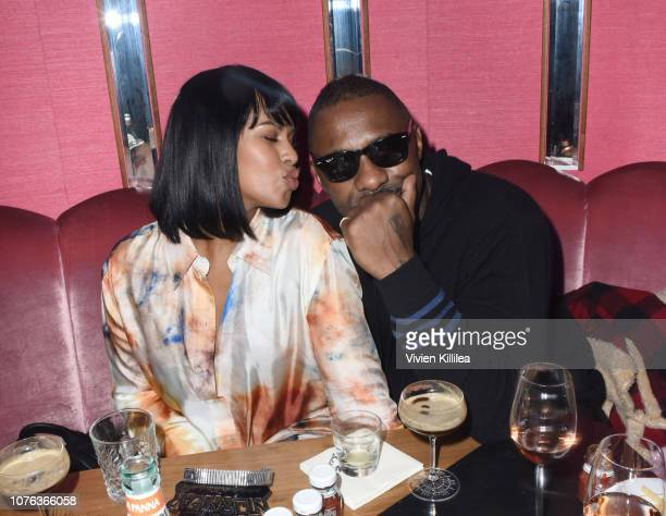 Sabrina Dhowre and Idris Elba attend The Mod Sèlection Champagne New Years Party Hosted By Drake And John Terzian at Delilah on December 31 2018 in...