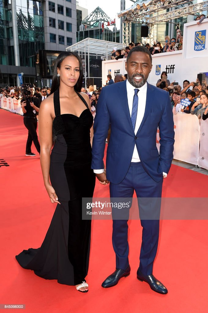 Sabrina Dhowre (L) and Idris Elba attend 'The Mountain Between Us' premiere during the 2017 Toronto International Film Festival at Roy Thomson Hall on September 10, 2017 in Toronto, Canada.