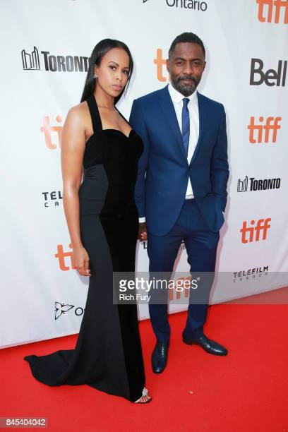 Sabrina Dhowre and Idris Elba attend The Mountain Between Us premiere during the 2017 Toronto International Film Festival at Roy Thomson Hall on...