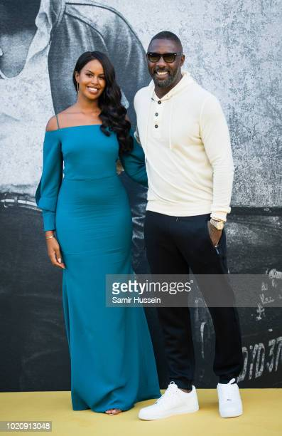 Sabrina Dhowre and Idris Elba attend the UK premiere of 'Yardie' at BFI Southbank on August 21 2018 in London England