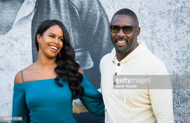 Sabrina Dhowre and Idris Elba attend the UK premiere of Yardie at BFI Southbank on August 21 2018 in London England