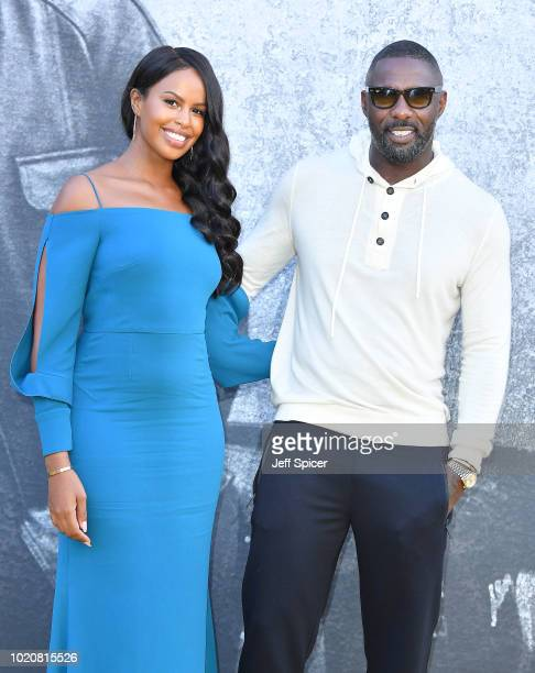 Sabrina Dhowre and Idris Elba attend the UK premiere of Yardie at the BFI Southbank on August 21 2018 in London England