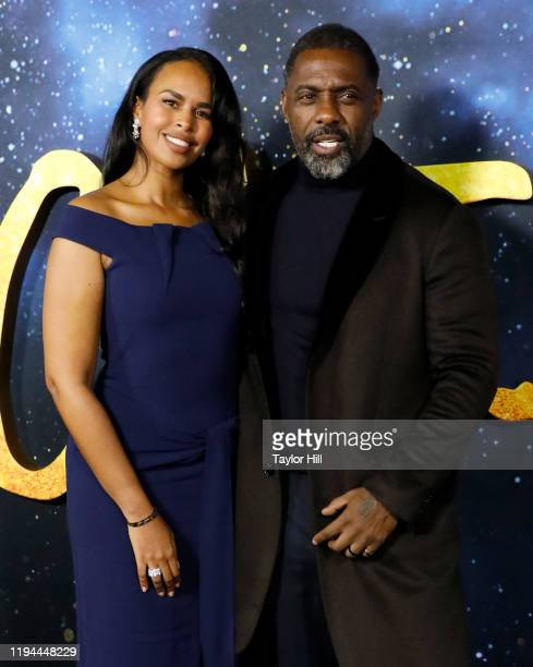 """Sabrina Dhowre and Idris Elba attend the world premiere of """"Cats"""" at Alice Tully Hall, Lincoln Center on December 16, 2019 in New York City."""