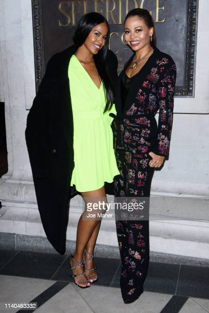 Sabrina Dhowre and Viscountess Emma Weymouth attend the Pat McGrath 'A Technicolour Odyssey' Campaign launch party at Brasserie Of Light on April 04...
