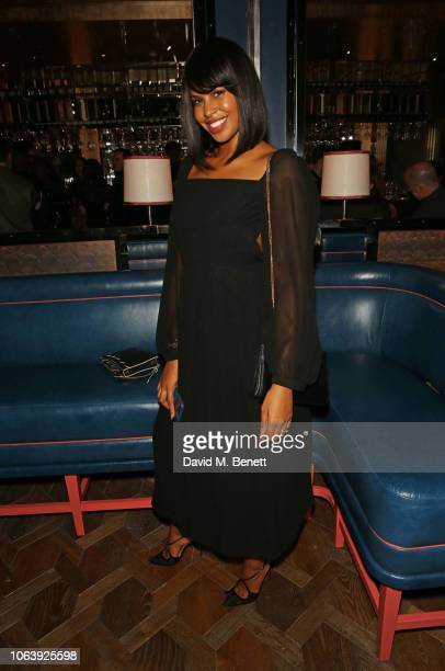 Sabrina Dhowre attends the launch of new restaurant Brasserie Of Light at Selfridges on November 20 2018 in London England
