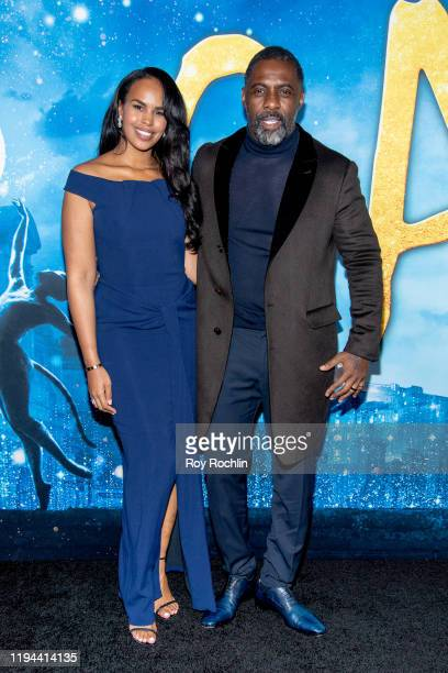 """Sabrina Dhowre Elba and Idris Elba attend the """"Cats"""" World Premiere at Alice Tully Hall, Lincoln Center on December 16, 2019 in New York City."""