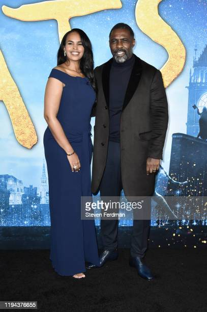 """Sabrina Dhowre Elba and Idris Elba attend the world premiere of """"Cats"""" at Alice Tully Hall, Lincoln Center on December 16, 2019 in New York City."""