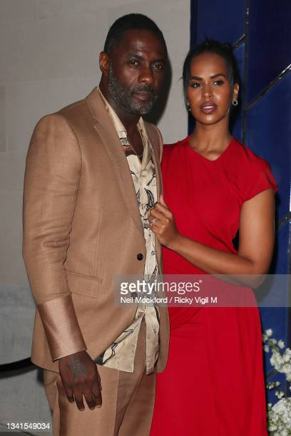 Sabrina Dhowre Elba and Idris Elba attends an intimate dinner and party hosted by British Vogue and Tiffany & Co. To celebrate Fashion and Film...
