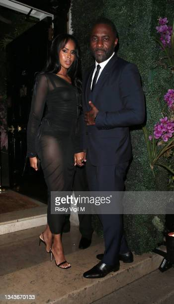 Sabrina Dhowre Elba and Idris Elba seen attending Bond: No Time To Die - world film premiere after parties on September 28, 2021 in London, England.