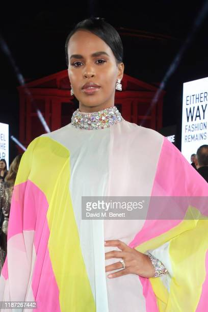 Sabrina Dhowre Elba arrives at The Fashion Awards 2019 held at Royal Albert Hall on December 2 2019 in London England