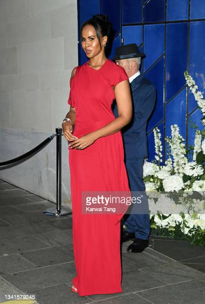 Sabrina Dhowre Elba attends the British Vogue x Tiffany & Co. Fashion and Film party at The Londoner Hotel on September 20, 2021 in London, England.