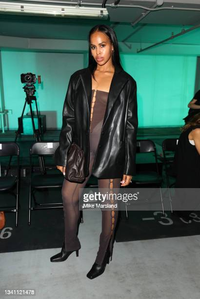 Sabrina Dhowre Elba attends the KNWLS show during London Fashion Week September 2021 on September 18, 2021 in London, England.