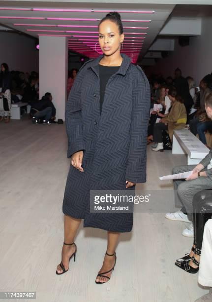 Sabrina Dhowre Elba during London Fashion Week September 2019 on September 13 2019 in London England