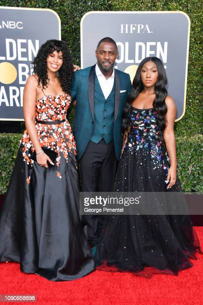 Sabrina Dhowre Idris Elba and Isan Elba attend the 76th Annual Golden Globe Awards held at The Beverly Hilton Hotel on January 06 2019 in Beverly...