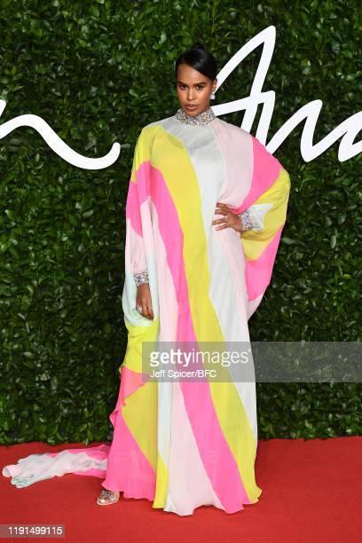 Sabrina Elba arrives at The Fashion Awards 2019 held at Royal Albert Hall on December 02 2019 in London England