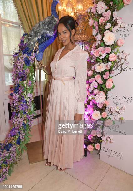 Sabrina Elba attends International Women's Day for The Caring Foundation with Salma Hayek at Annabel's on March 08 2020 in London England