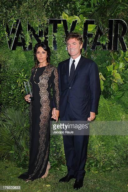 Sabrina Ferilli and Flavio Cattaneo attend Vanity Fair Celebrate 10th Anniversary during the 70th Venice International Film Festival at Fondazione...