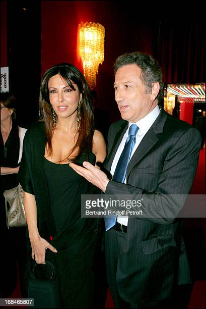 Sabrina Ferilli and Michel Drucker at Dalida TV Film Tribute To The Singer