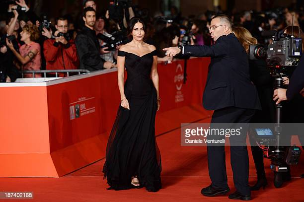 Sabrina Ferilli attends the Opening Ceremony and 'L'Ultima Ruota Del Carro' Premiere during The 8th Rome Film Festival on November 8 2013 in Rome...