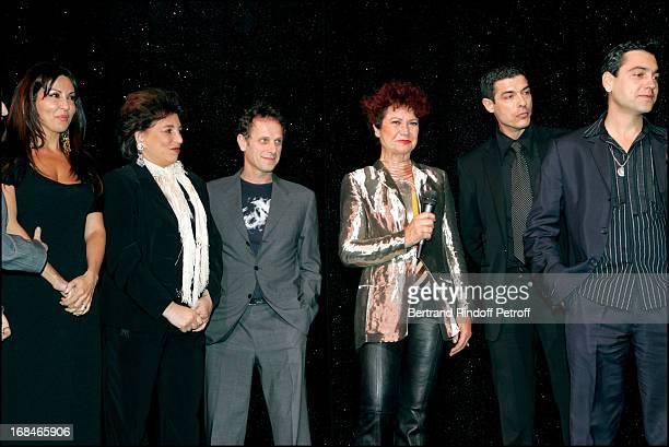 "Sabrina Ferilli , Joyce Bunuel and Charles Berling , Pascale Breugnot and Alessandro Gassman and Arndu Giovaninetti at ""Dalida"" TV Film Tribute To..."