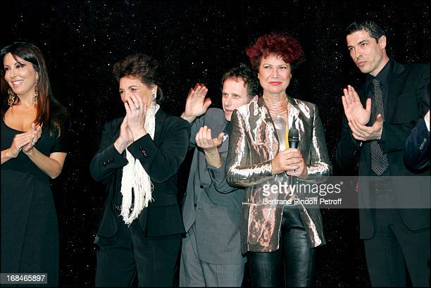 "Sabrina Ferilli , Joyce Bunuel , Charles Berling , Pascale Breugnot and Alessandro Gassman at ""Dalida"" TV Film Tribute To The Singer."