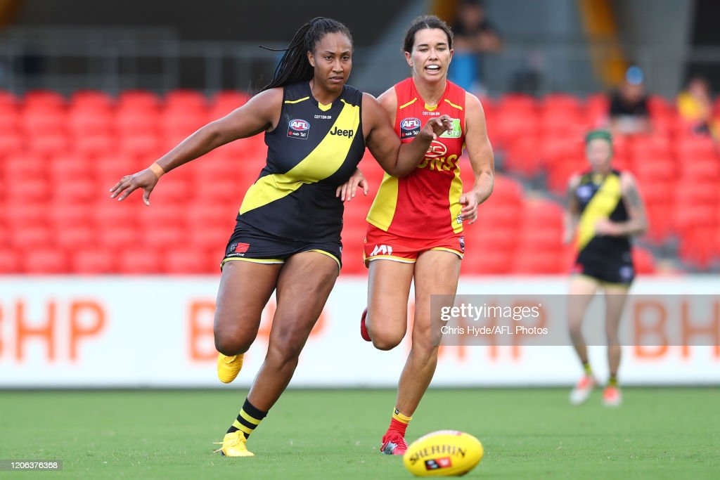 AFLW Rd 2 - Gold Coast Suns v Richmond Tigers : News Photo