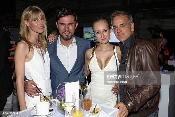 Sabrina Gehrmann Tobey Wilson Tatjana Thinius and Florian Fitz attend the made inde Award 2015 on May 19 2015 in Berlin Germany