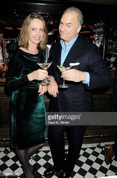 Sabrina Guinness and Charles Finch attend The Weinstein Company Dinner Hosted By Grey Goose in celebration of BAFTA at Dean Street Townhouse on...