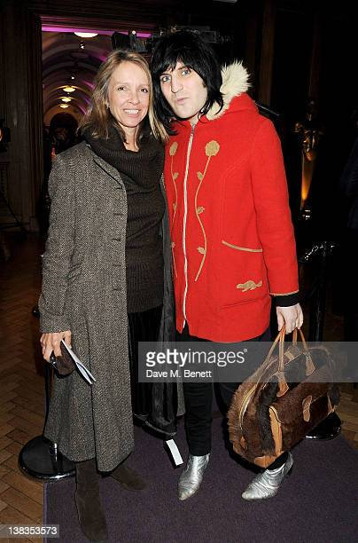 Sabrina Guinness and Noel Fielding attend the London Evening Standard British Film Awards 2012 at the London Film Museum on February 6 2012 in London...